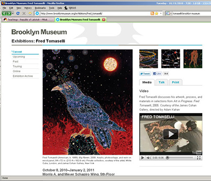 Fred Tomaselli at The Brooklyn Museum