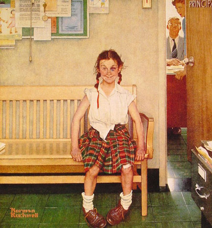 Girl With Black Eye Norman Rockwell