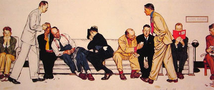 Maternity Waiting Room - Norman Rockwell