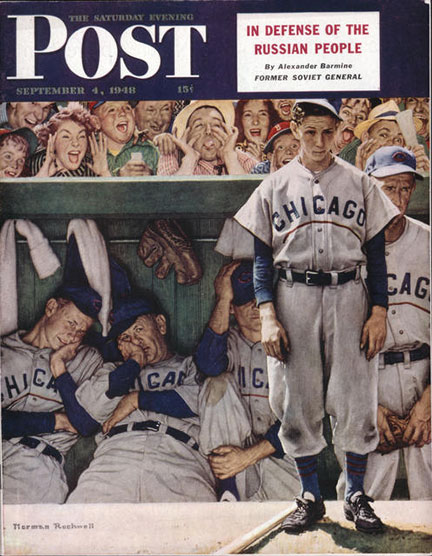 The Dugout - Norman Rockwell