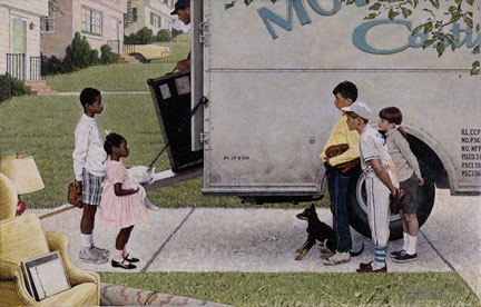 New Kids In The Neighborhood - Norman Rockwell