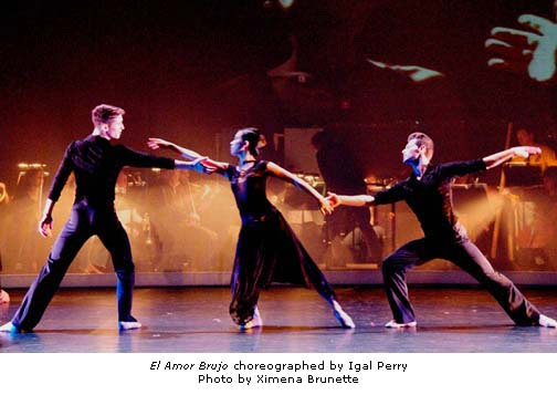 Peridance Contemporary Dance Company - El Amor Brujo - photo by Ximena Brunette
