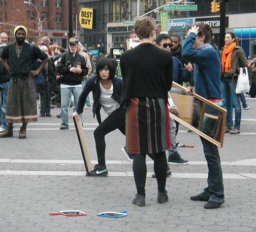 Dancers in Union Square