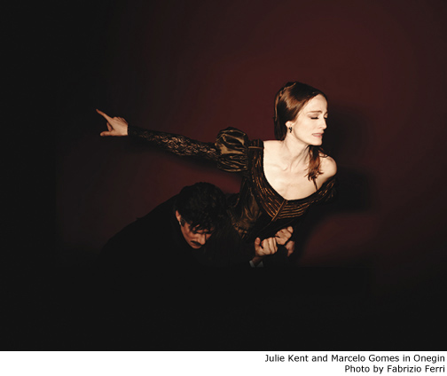 Julie Kent and Marcelo Gomes in Onegin - Photo by Fabrizio Ferri