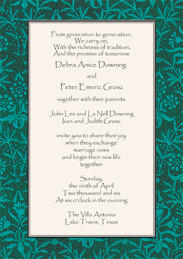 Commitment Ceremony Gay U0026 Lesbian Wedding Invitation