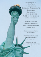 New York Theme Invitation