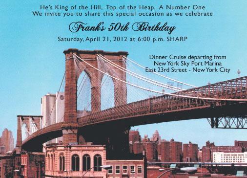 New York Theme Invitation NYT09 – New York Party Invitations
