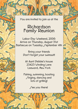 Family Reunion Invitation  Family Reunion Invitation Cards