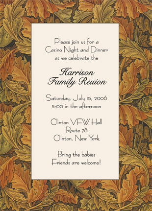 Family Reunion Invitation Wmfr