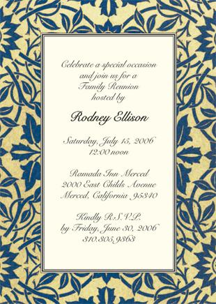 Family Reunion Invitation, Style Wmfr-07