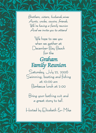 WMR 08_inv family reunion invitation, style wmfr 08,Reunion Invitation Wording