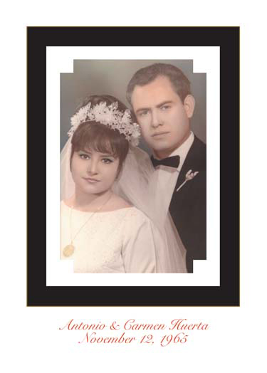 Fiftieth Wedding Anniversary Party Invitation