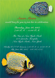 Fish Animal Theme Invitation