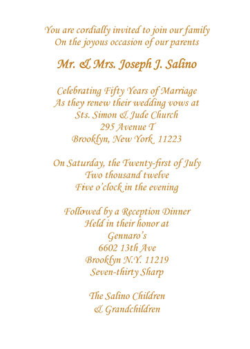 50th anniversary party invitation style 1d fiftieth wedding anniversary party invitation stopboris Choice Image