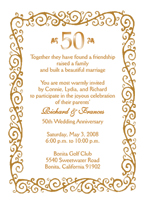 fiftieth wedding anniversary party invitation