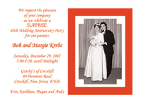 Wedding Anniversary Party Invitations