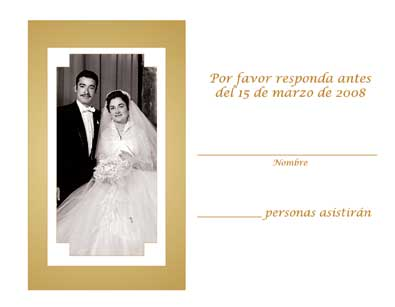 Spanish Wedding Anniversary Party Invitation, Style 1R