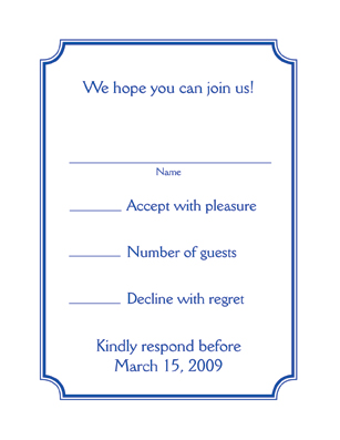 Bar / Bat Mitzvah Response Card