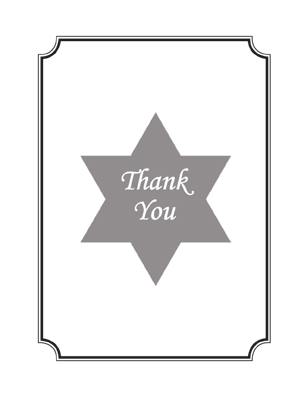 Bar / Bat Mitzvah Thank You Card