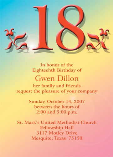 Return to main Birthday Party Invitation Page