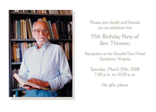 55th birthday party invitation 85th birthday party invitation filmwisefo Choice Image
