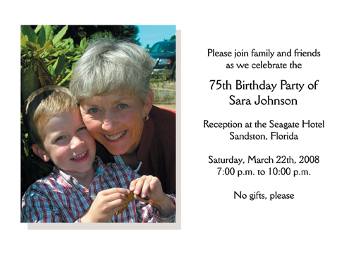 Birthday party invitation 75th birthday party invitation bookmarktalkfo Images