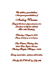 Birthday Party Invitations - Formal birthday invitation mail