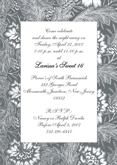 black and white party invitations, Party invitations