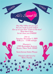 Cheerleading Party Invitation