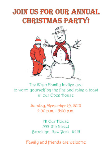 Christmas Party Invitation, Style Cpi-02
