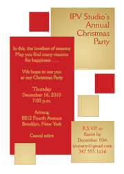 Christmas Party Invitation Templete