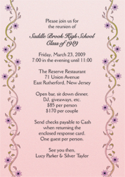 cr 06_th class reunion invitations,Reunion Invitation Wording
