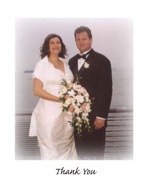 Wedding Thank You Note Card Sample 10