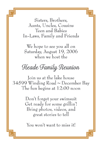 Family Gathering Invitations for nice invitations sample