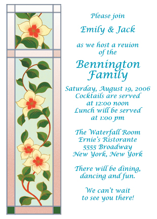 Family Reunion Invitation, Style fr-08