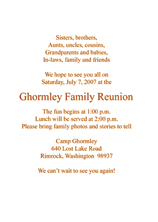 Family reunion invitations family reunion invitation stopboris