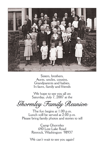 family reunion flyers templates