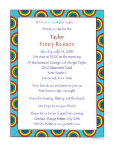 Family Reunion Party Invitation Letter Templates