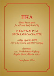 Fraternity Party Invitation