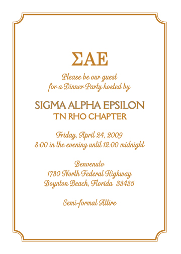 Fraternity Formal Invitation Template Image Gallery - Hcpr