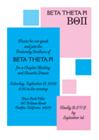 Fraternity Party Invitations