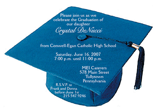 25 Personalized Graduation Party Invitations Graduation Cap – Invitation to Graduation Party