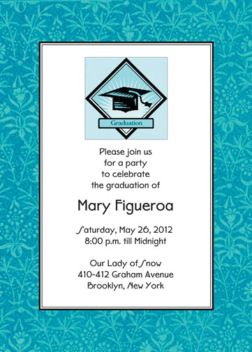 Graduation Party Invitations - Contoh invitation card sweet seventeen birthday party