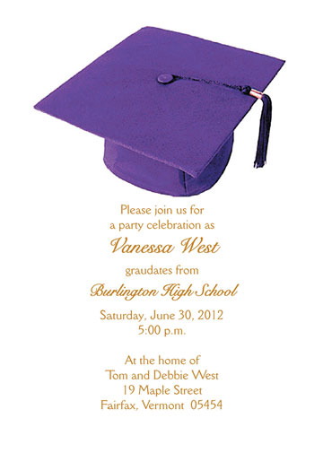 Graduation party invitation grad 03 purple stopboris Gallery