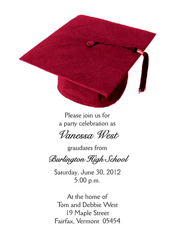 Graduation Party Invitation Grad 03 Red