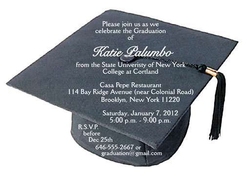 Graduation Party Invitation Grad 10