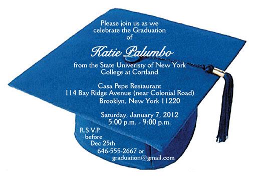 Graduation Party Invitation Grad10 Blue