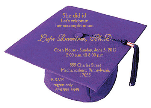 Graduation party invitation grad 10 purple stopboris