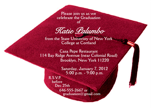 25 Personalized Graduation Party Invitations Graduation Cap