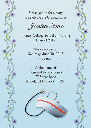 Graduation party invitation for nurses grad 16 blue stopboris Choice Image